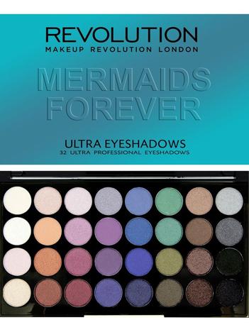 Makeup Revolution Ultra Palette Paleta 32 cieni Mermaids Forever 16g