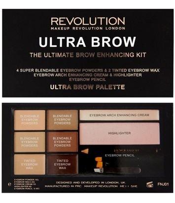 Makeup Revolution Zestaw do stylizacji brwi Ultra Brow Fair to Medium
