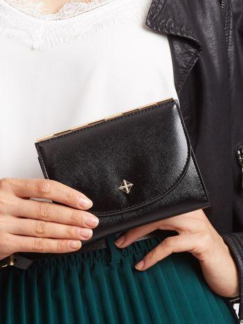 Mały elegancki portfel czarny