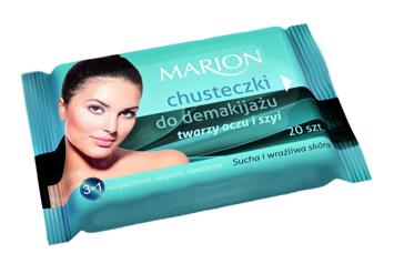 Marion Chusteczki do demakijażu twarzy, oczu i szyi do skóry suchej i wrażliwej 20 szt.