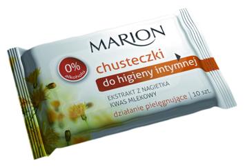 Marion Chusteczki do higieny intymnej Ochrona przed infekcjami z Nagietkiem 10 szt.