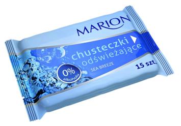 Marion Chusteczki odświeżające Sea Breeze o zapachu morskim 15 szt.