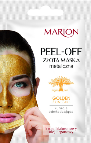 "Marion Golden Skin Care Złota maska metaliczna na twarz peel-off  6g"""