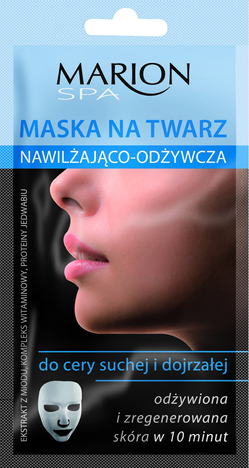 Marion Spa Maska na twarz nawilżająco-odżywcza do cery suchej i dojrzałej 15 ml