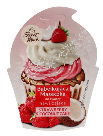 """Marion Sweet Mask Bąbelkująca Maseczka do twarzy nawilżająca Strawberry&Coconut Cake 6g"""""""