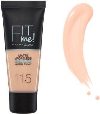 Maybelline matujący podkład FIT ME! Matte&Poreless 115 Ivory 30 ml