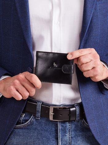 Męski czarny portfel ze skóry