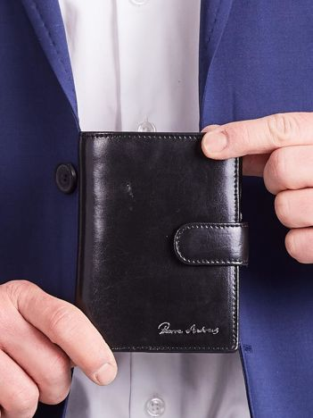 Męski portfel skórzany czarny