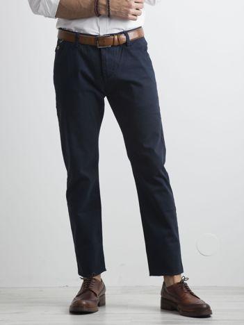 Męskie spodnie chino granatowe
