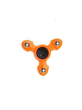 Metalowy pomarańczowy fidget spinner z ozdobnymi kulkami