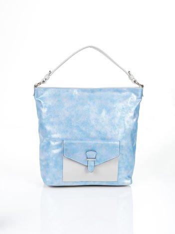 Miejska torba z kieszonką niebieska