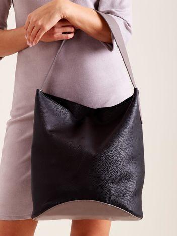 Miękka czarna torba damska