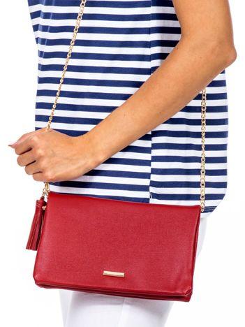 Miękka czerwona torebka z chwostem