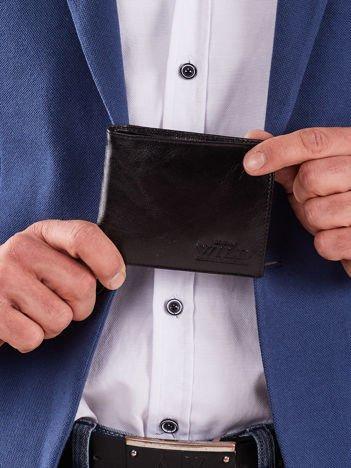 Miękki męski portfel czarny