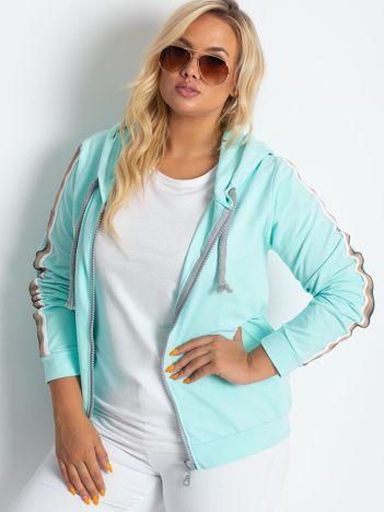 Miętowa bluza plus size Apear