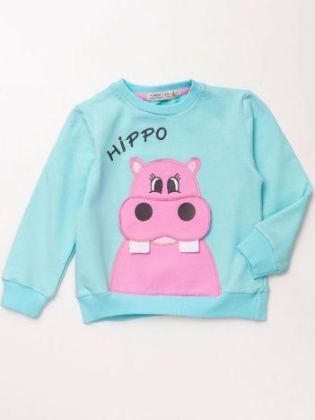 Miętowa dresowa bluza dla dziewczynki