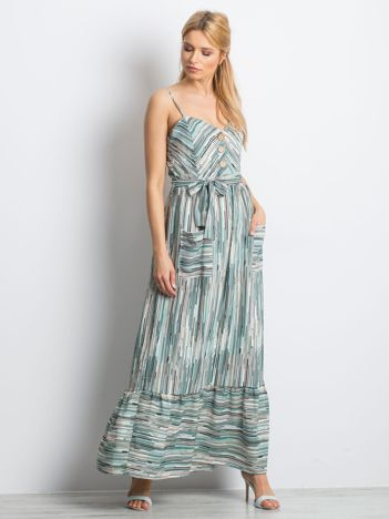 Miętowa sukienka City break