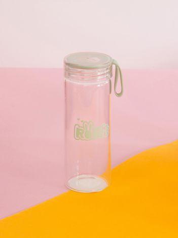 Miętowa szklana butelka na wodę