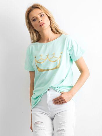 Miętowy t-shirt Kingdom