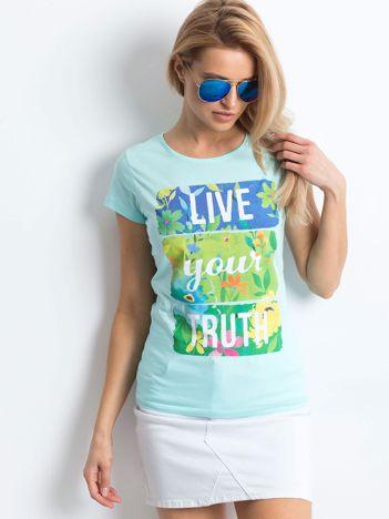 Miętowy t-shirt Versatile
