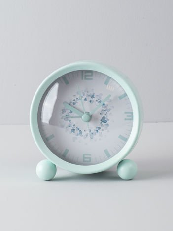 Miętowy zegarek stołowy