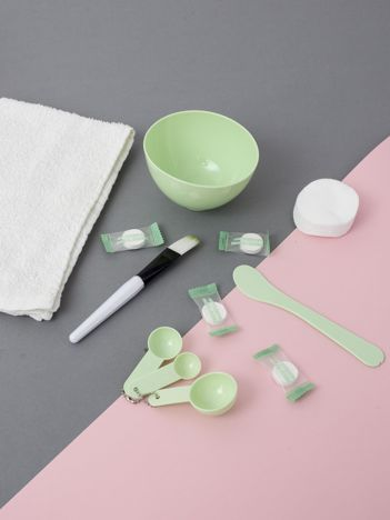 Miętowy zestaw do maseczek kosmetycznych