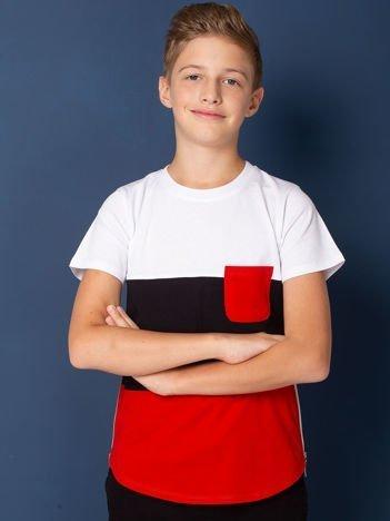 Modułowy t-shirt dziecięcy z suwakami