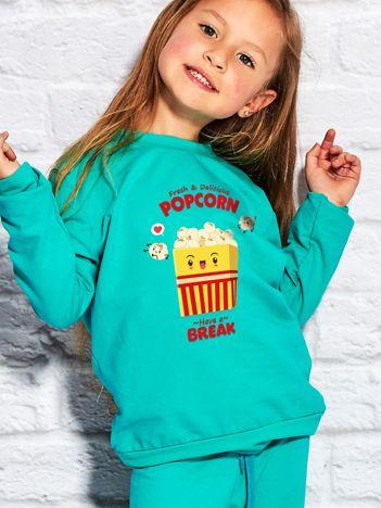 Morska bluza dziecięca z wesołym popcornem