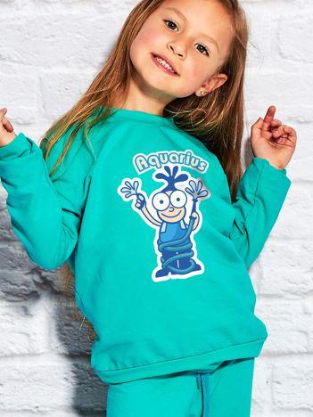 Morska bluza dziecięca znak zodiaku WODNIK