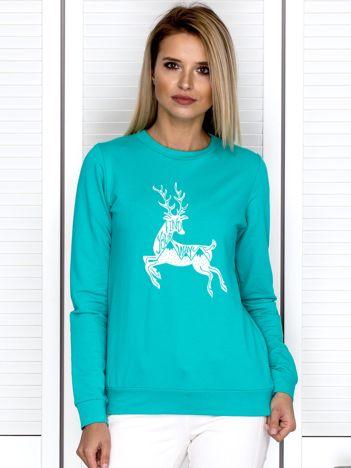 Morska bluza z zimowym motywem