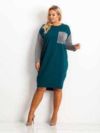 Morska sukienka plus size Desire