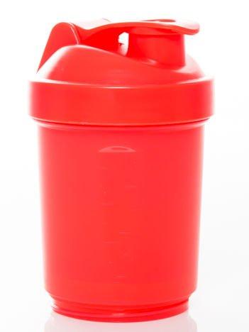 Muscle Shake - Shaker Neon - 400 ml + 120 ml + 180 ml Neon red
