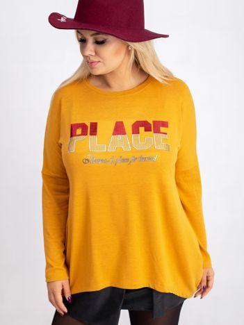 Musztardowa bluzka plus size Gracie