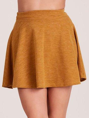 Musztardowa rozkloszowana spódnica