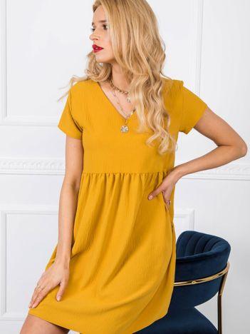 Musztardowa sukienka Erin RUE PARIS