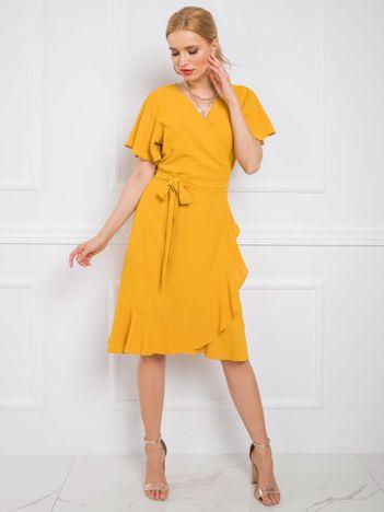 Musztardowa sukienka Kaily RUE PARIS