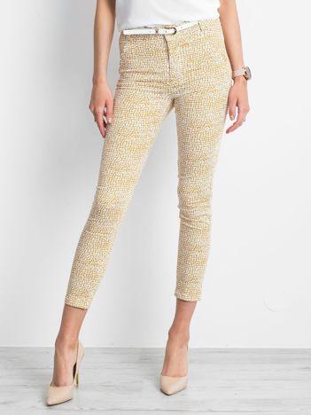 Musztardowe spodnie Blokey