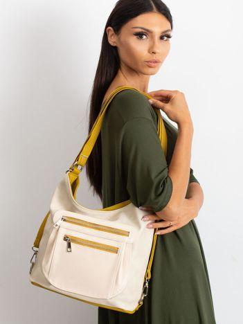 Musztardowo-beżowa torba na ramię