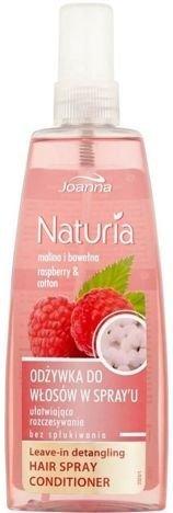 NATURIA Odżywka w spray'u ułatwiająca rozczesywanie malina i bawełna 150 ml