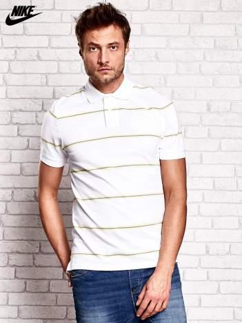 NIKE Biała koszulka polo męska w paski