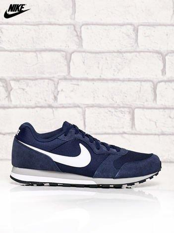 NIKE granatowe zamszowe buty męskie sportowe MD Runner 2