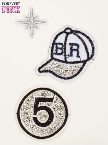 Naprasowanka - modna ozdoba odzieży 3 szt. (wielkość: 3 - 7 cm)