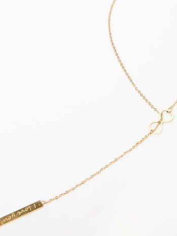 Naszyjnik damski nieskończoność z celebrytkami pozłacany 14-karatowym złotem