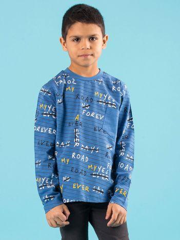 Niebieska bawełniana bluzka dla chłopca