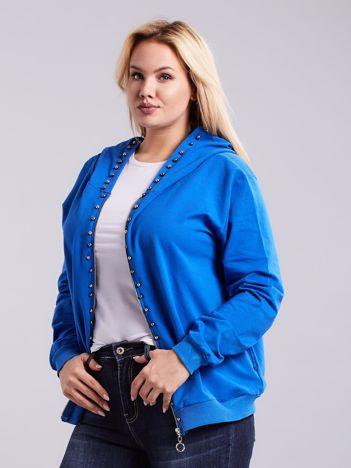 Niebieska bluza dresowa PLUS SIZE