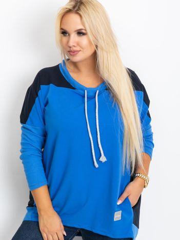 Niebieska bluza plus size Elliot