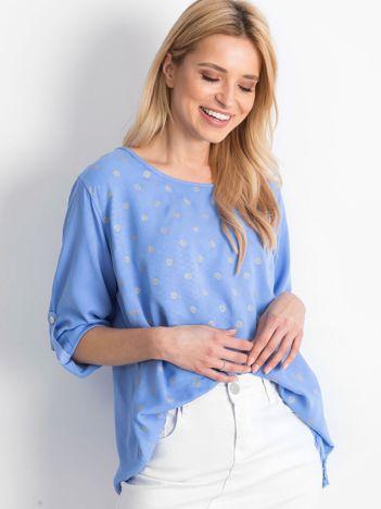 Niebieska bluzka Designer