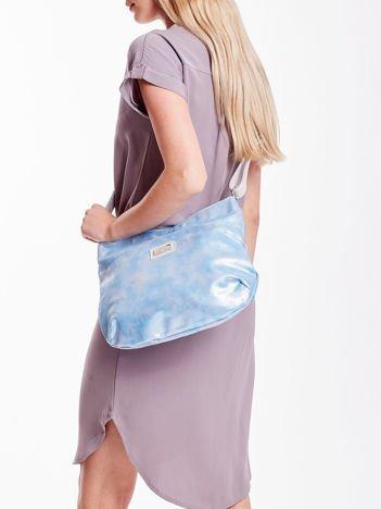 Niebieska brokatowa torba na ramię