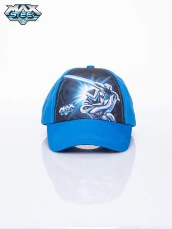 Niebieska chłopięca czapka z daszkiem MAX STEEL