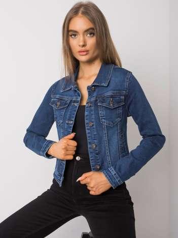 Niebieska damska kurtka jeansowa Maureen